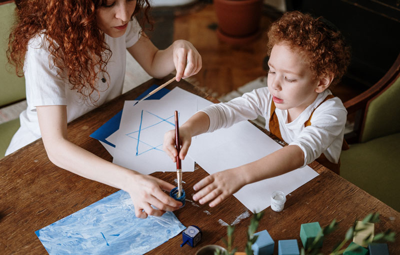 Mother And Son Drawing - Grants For Single Moms